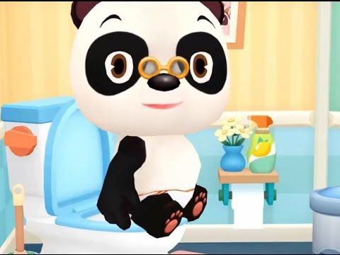 Dr. Panda Bath Time - Funny Educational Gameplay HD