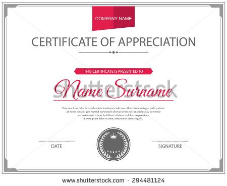 14 best Certificate design images on Pinterest Certificate - stock certificate template