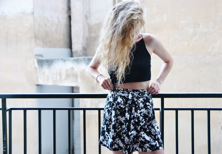 B&W Summer Shorts - //THE WARDROBE PROJECT//