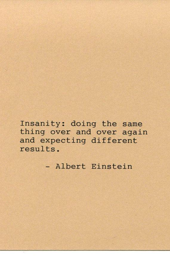 Albert Einstein Quote Made on Typewriter by FlightOfFancyPrints