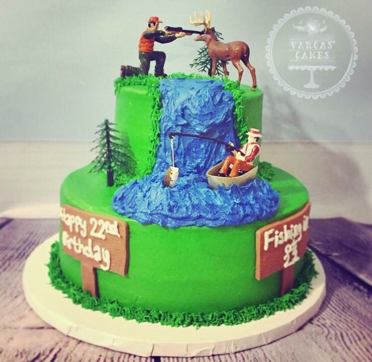 35 best HUNTING FISHING CAKES images on Pinterest Deer hunting