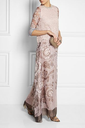 Non-White Dresses Fit To Be Wed In #Biyan Granger Lace and Silk-Blend Organza, $2,320, available at Net-A-Porter.