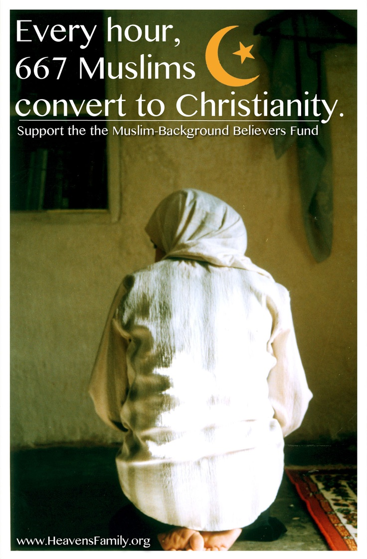 Muslims are converting to Christianity!