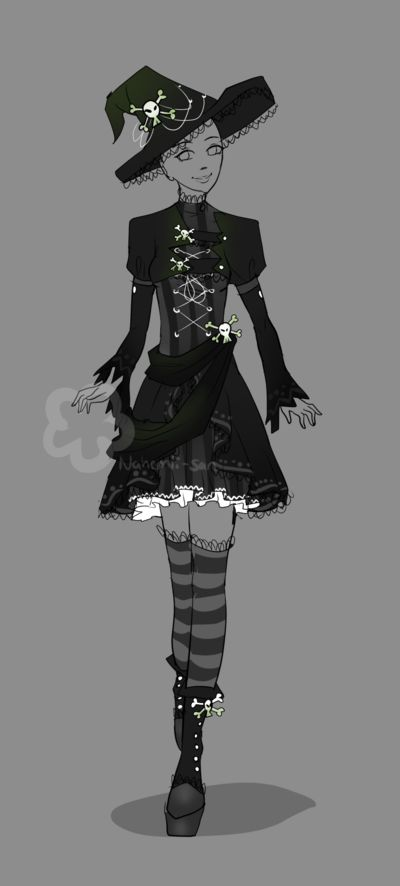Lolita-Goth-Witch Custom by Nahemii-san.deviantart.com on ...Witch Of Life Outfit