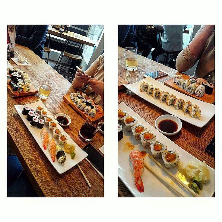 Heute gab's den größten #foodporn #ever.  Ausnahmsweise mal was gegönnt denn meine beste Freundin ist endlich mal wieder in Deutschland  und weil wir beide #sushi lieben!  Schade dass sie am Sonntag schon wieder zurück nach #england fährt  sonst wäre ich nächste Woche direkt noch mal mit ihr Sushi essen gegangen ! . . . Today i had the best #food ever!  Normally this massive #meal wouldnt fit in my #diet but i had a little #cheat #cheatmeal cause my #bestfriend from england is in #germany…