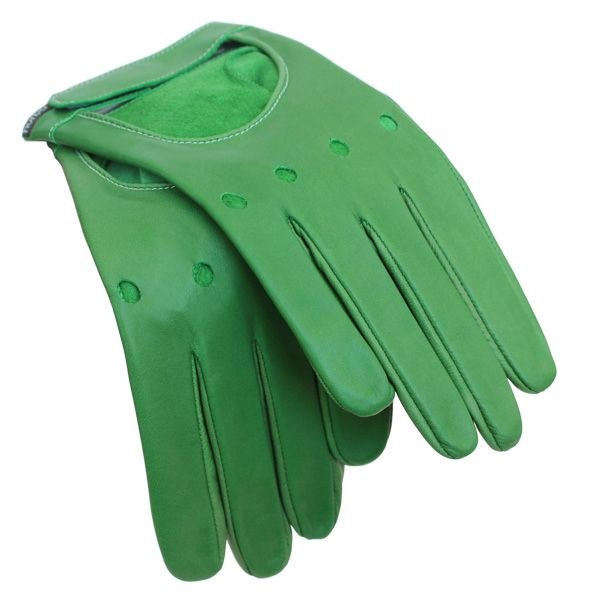 Gants rallye Hurbane - cuir vert