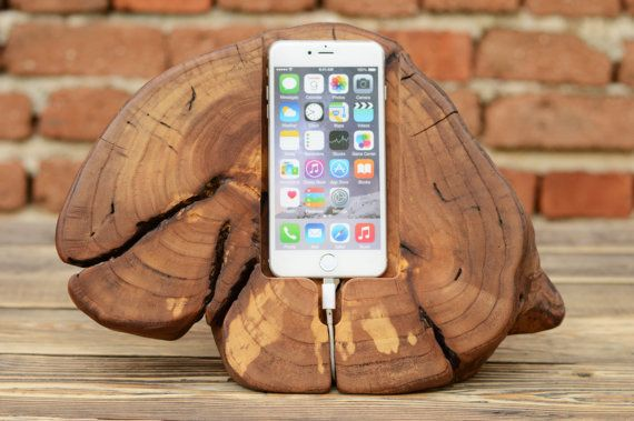iPhone 6 Plus Stand Wooden phone stand iPhone 7  by WoodRestart