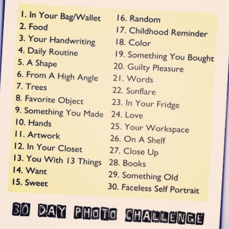 September's Instagram Photo Challenge
