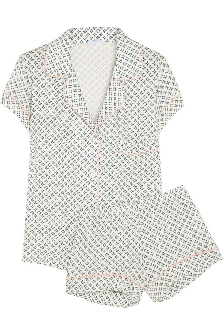 The Softest Pajamas Ever - printed stretch-jersey pajamas are perfect for staying cool and comfy on balmy summer nights...