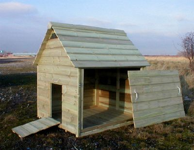 The Naburn Duck House Side View.  Duck house DIY?