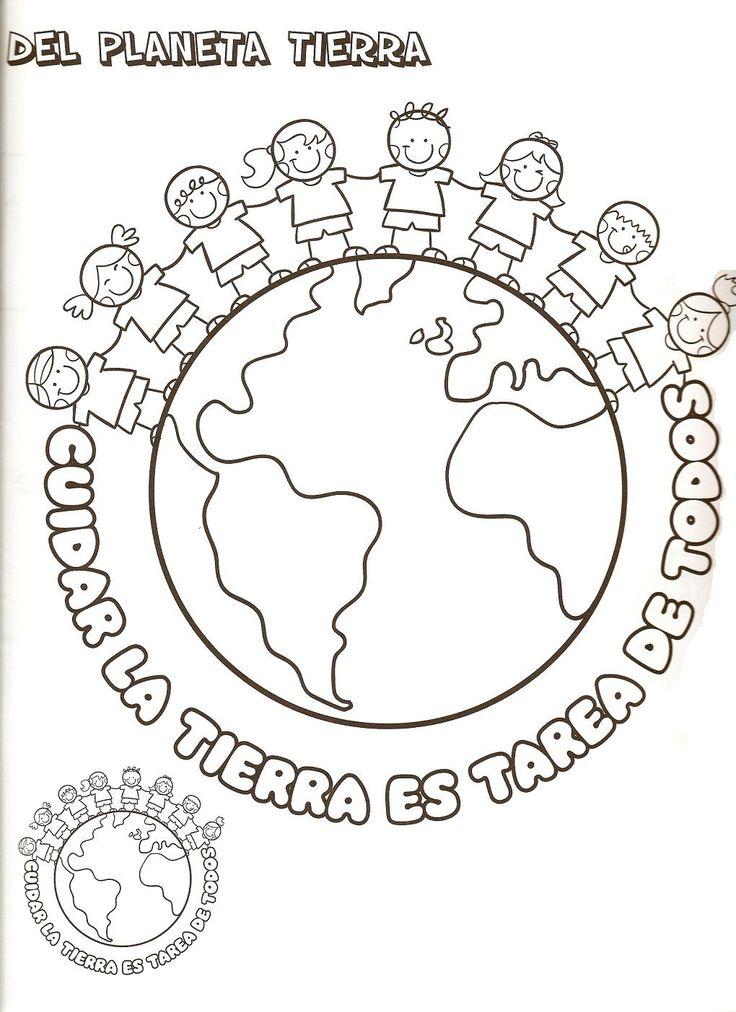 ... del planeta tierra para colorear - Dibujos para colorear - IMAGIXS