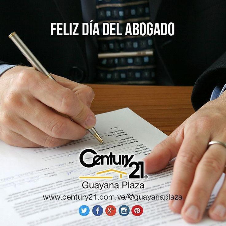 A los profesionales del derecho Guayana Plaza les desea un #FelizDiaDelAbogado y que el cumplimiento de las leyes sea siempre su norte.  #Century21 #BienesRaíces #inmobiliario #compra #venta #alquiler #oficina #local #casa #apartamento #terreno #realestate #realtor #legal #lawyer #LawyersDay #Venezuela #Guayana #pzo #pzocity #C21