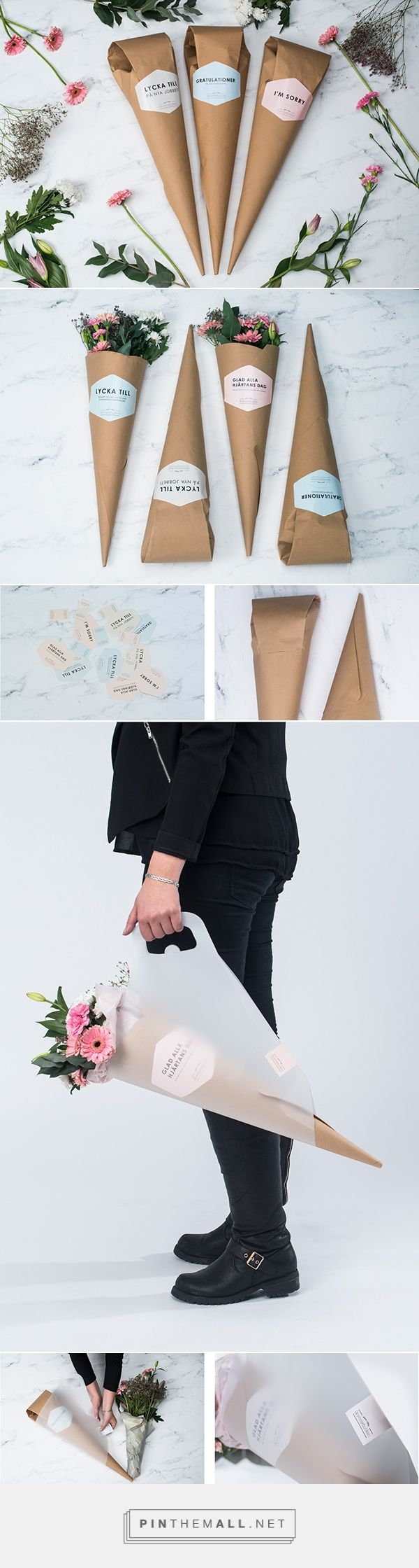 Flower packaging on Packaging Design Served - created via https://pinthemall.net