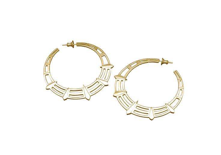 Liberty hoop earrings (yellow gold)
