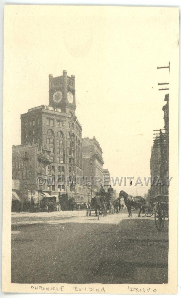 1901 PHOTO CA California San Francisco Old Chronicle Newspaper Building