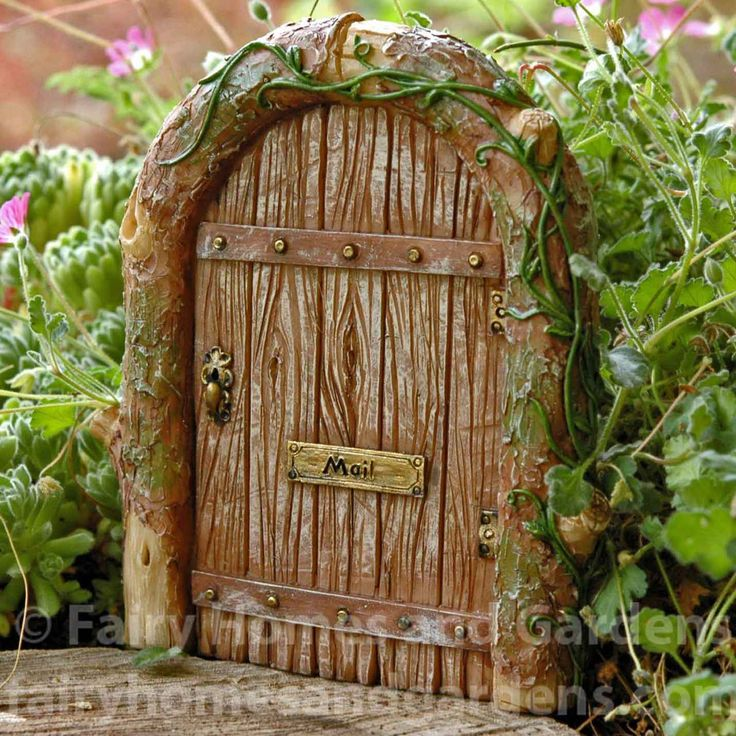 Fairy Door with Mail Slot & 33 best Fairy Doors images on Pinterest | Fairies garden Fairy ...