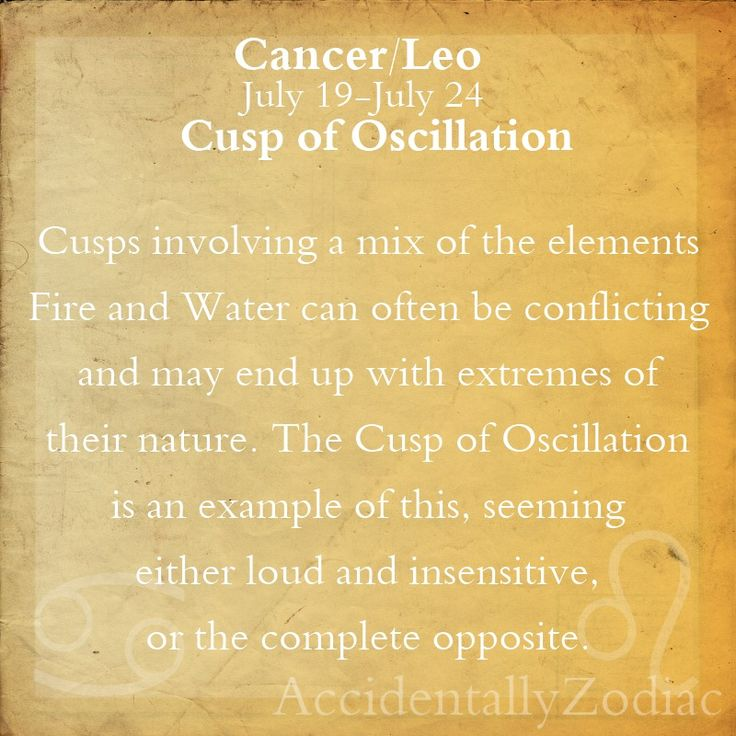 Cancer/Leo Cusp Part 1