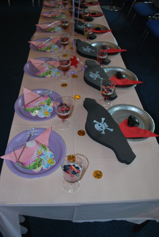 Princess & Pirates Party Decoration Ideas Hello Kitty Birthday Party via Kara's Party Ideas Ideas -www.KarasPartyIdeas.com fiesta birthday p...