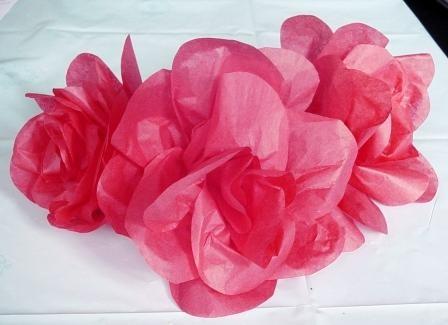 tissue paper roses