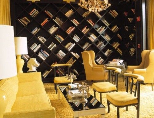 Love the book wall.