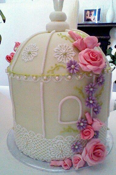 Birdcage wedding or celebration cake