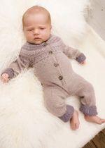 Strickanleitung von Drops, Softstrick für Baby, Strickmütze und Trittanzug