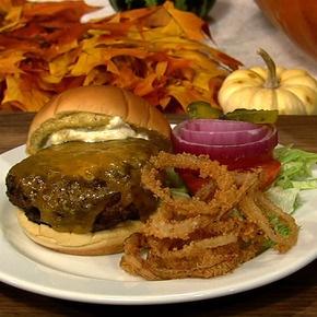 Carla's perfectly cheesy Burger.