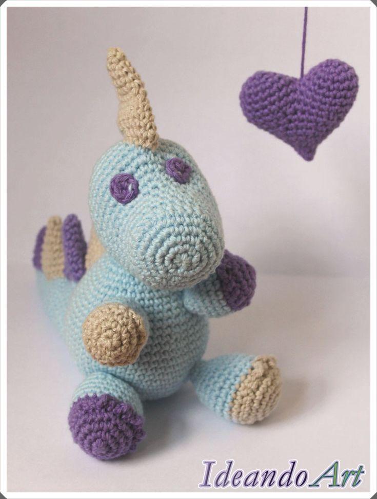 Dragón amigurumi de crochet handmade personalizable by IdeandoArt. Lo puedes comprar aquí: http://es.dawanda.com/shop/ideandoart