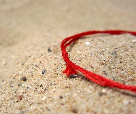 ADJUSTABLE STRING BRACELET An adjustable string bracelet designed for both men and women. Can be worn in water. Handmade with double mercerized, lightfast