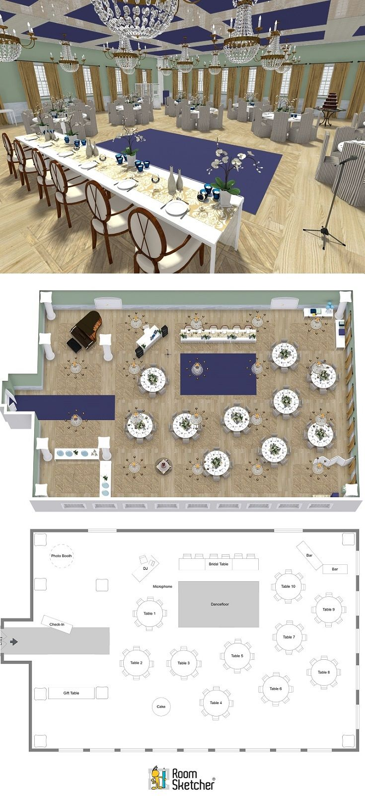Planning a wedding for yourself or others? Try RoomSketcher Home Designer to plan and visualize your venue. Create floor plans, seating layouts, 3D images and more of your event planning ideas.  http://www.roomsketcher.com/features/home-designer/  #weddingplanning #eventplanning #weddingideas #eventplans #weddingplanner #weddingprep #weddingfloorplan #weddingvenue