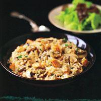 Mushroom and Chicken Risotto - Rice Recipes - Chicken Vegetable Risotto Recipes - Delish