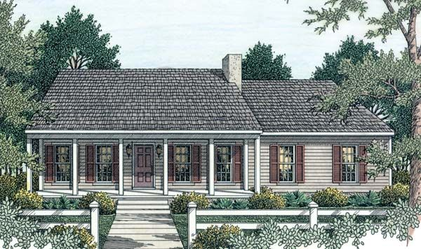 Country ranch house plan 40026 for Country ranch floor plans