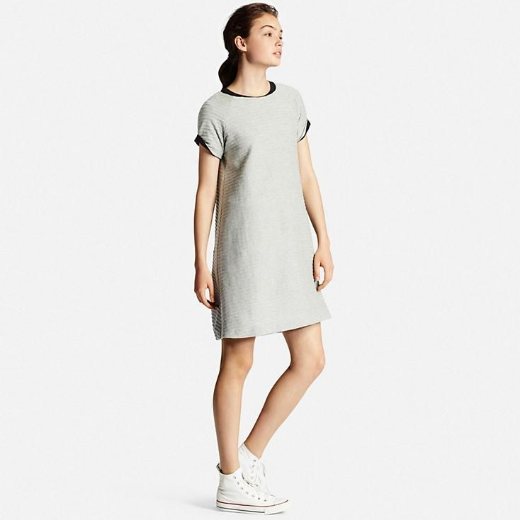 WOMEN JACQUARD SHORT SLEEVE DRESS | UNIQLO