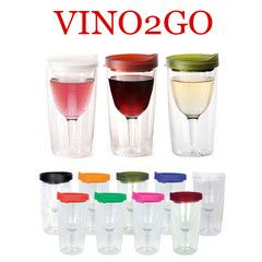 Blank Vino2Go Acrylic Wine 10oz Tumbler