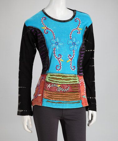 Take a look at this Black & Blue Tee by Rising International on #zulily today!