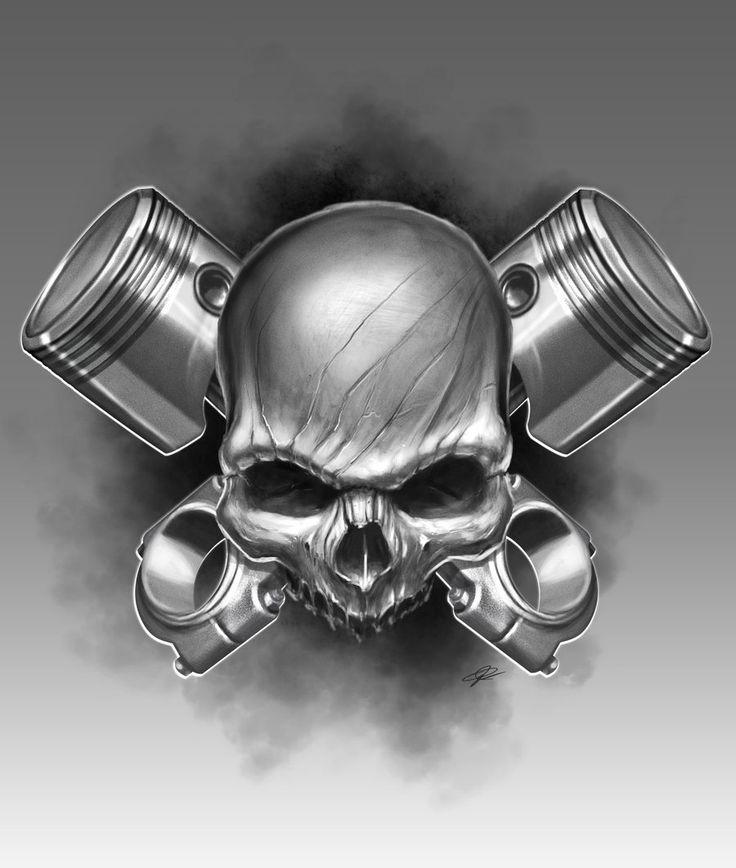 Piston+Skull+by+ArtofPister.deviantart.com+on+@deviantART