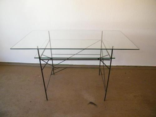 Zeichentisch LX III Glas auf Stahlgestell in Herne