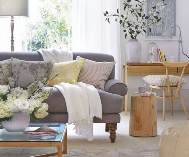 Top pin of the day: A gorgeous neutral living room - housebeautiful.co.uk