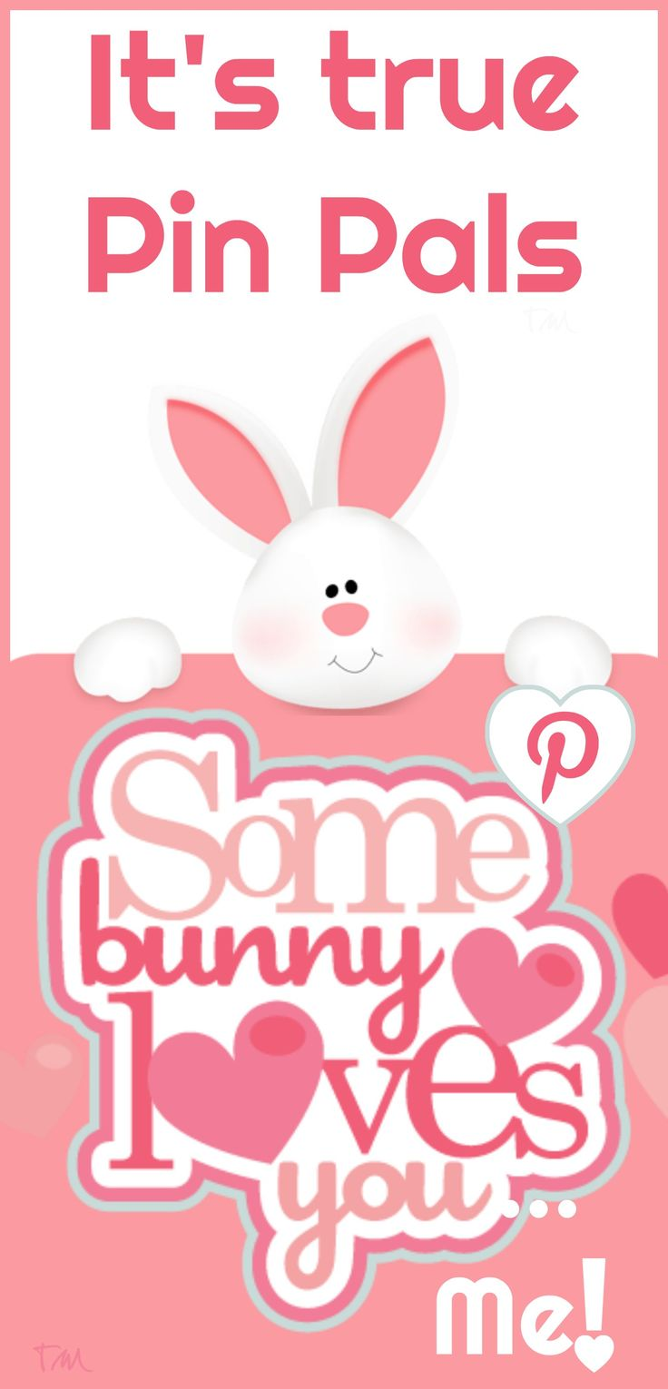 Some bunny loves you Pin Pals ♥ Tam ♥