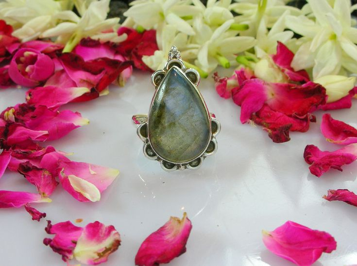 Silver Rings – 925 Sterling Silver- Labradorite Ring For Women  – a unique product by 925silvercollection on DaWanda