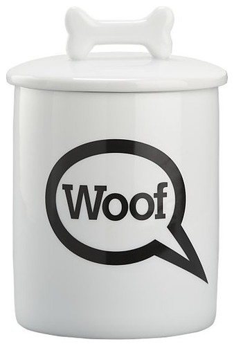 """Woof"" Treat Jar - contemporary - pet accessories - Crate"