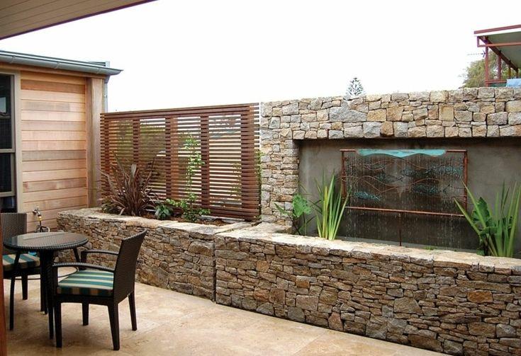 Las 25 mejores ideas sobre revestimiento de piedra en for Piedras para patios exteriores