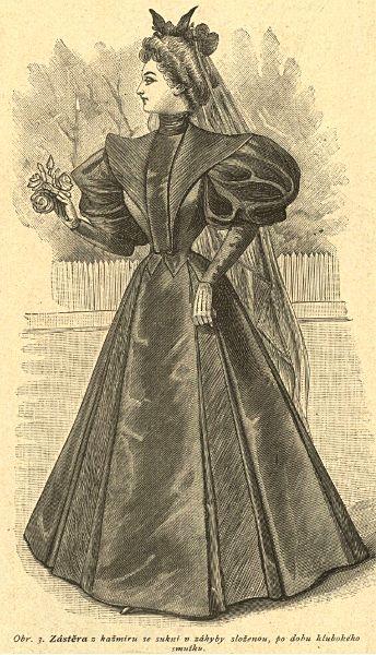 Strój do ciężkiej żałoby, 1895   Heavy mourning outfit, 1895