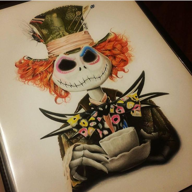 """The Mad Hatter Jack By @just_artwork _ Also check out our new art featuring page @artshelp  _ Via @disney.arts"""