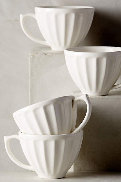 Anthropologie EU Latte Mug. A versatile classic for the kitchen, now in a sampling of beautiful hues.