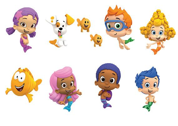"12"" Bubble Guppies cliparts - Instant Download Party ..."