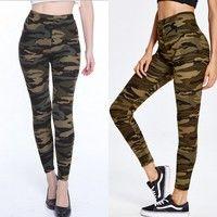 Wish | Women Fashion Camouflage Skinny Jeggings Stretch Slim Leggings Pencil Pants Trousers