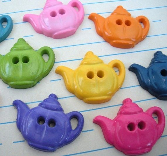 cute 'Tea Time' teapot shaped colorful novelty by JamboChameleon, $1.75