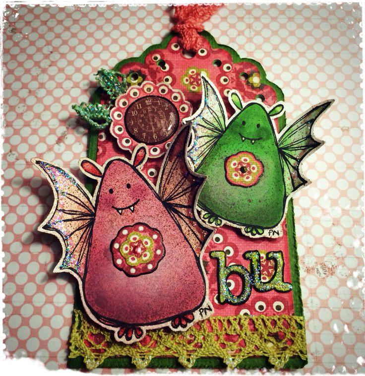 Halloween tag made by DT-Linda S http://blog.pysseldags.com/2014/10/halloweentag.html