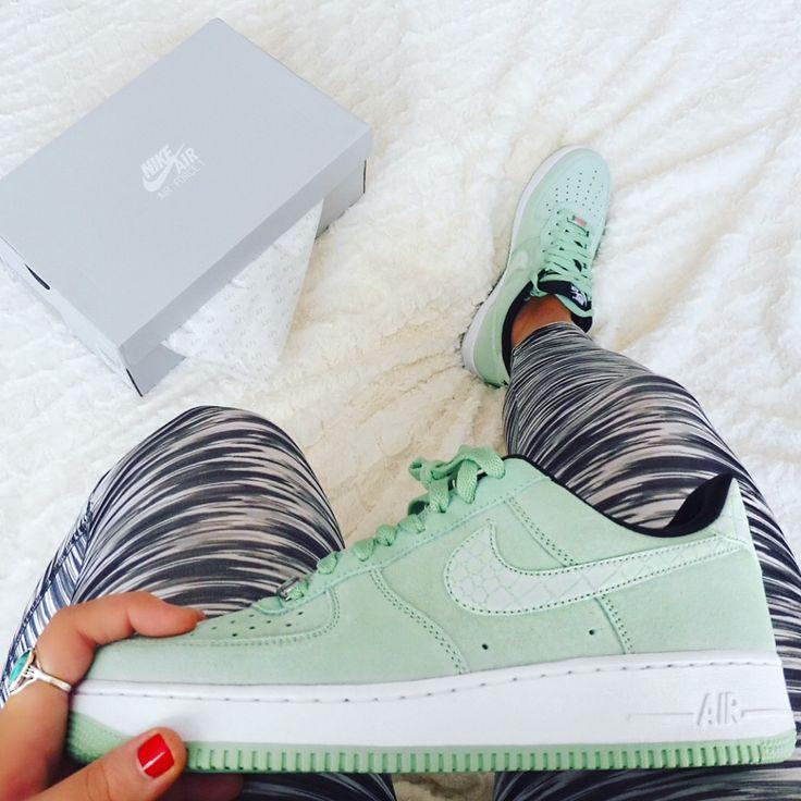 Enamel green Nike Air Force one